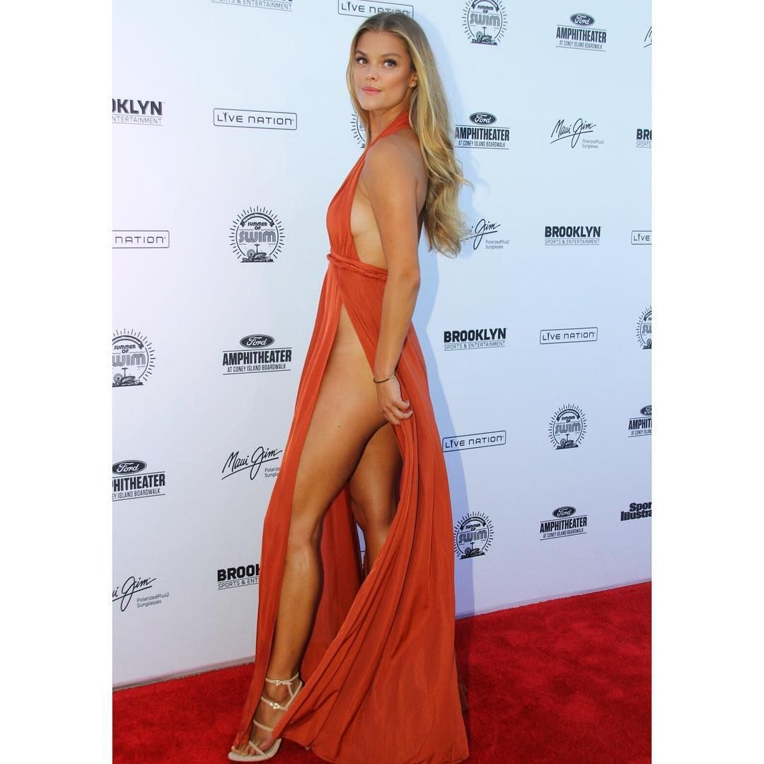 Nina Agdal no pants dress IG