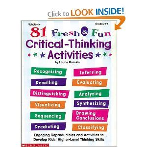 critical thinking books for kids Integrate critical thinking skills, logic, and pattern recognition into your homeschool with resources and workbooks from the critical thinking company.