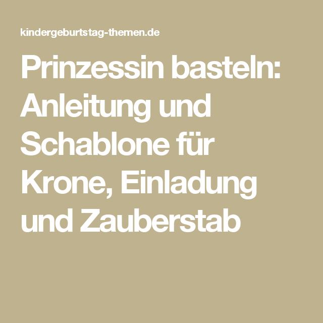 Schöne Basteltipps für die Prinzessin-Party | Zauberstab, Basteln ...