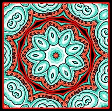 DoodleDalas: This is one of Sue's doodle mandalas. She also creates mandalas inspired by nature - they can be seen on her other blog Sacred Circle Mandalas