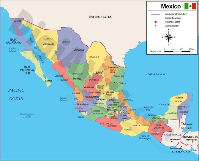 Mexico Mexico Lindo Y Querido Mapa De Mexico Republica Mexicana