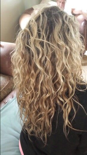 Pale Blonde And Extra Light Irredecent Blonde Natural Curls
