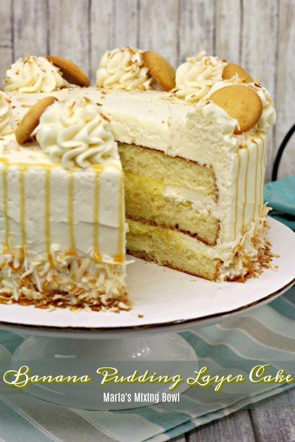 This Banana Pudding Layer Cake is everything you want in a cake. Super moist and scrumptious! You will LOVE this cake.