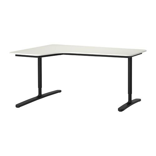 Bekant Corner Desk Left White Black 63x43 1 4 Ikea Ikea Bekant Corner Desk Ikea