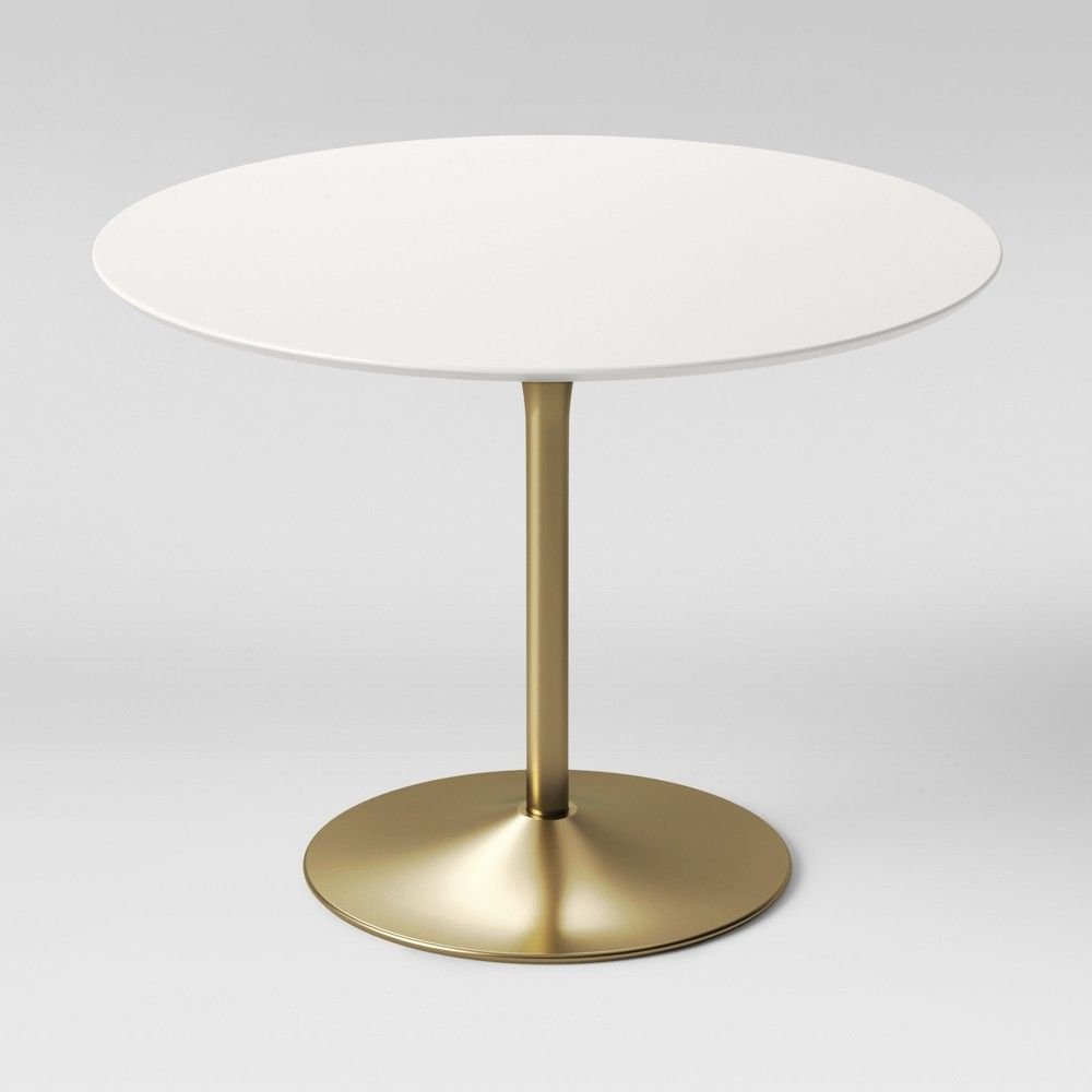 Peachy Braniff Round Dining Table Metal Base Brass Project 62 Machost Co Dining Chair Design Ideas Machostcouk