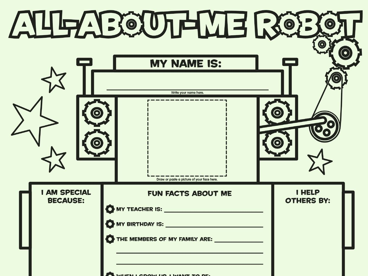 All About Me Cube Template 14 Secrets About All About Me