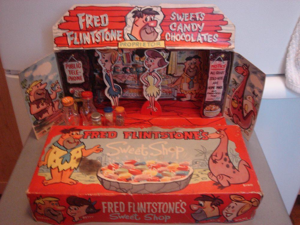 Vintage Toy Fred Flintstones Sweet Shop Play Set By Hanna