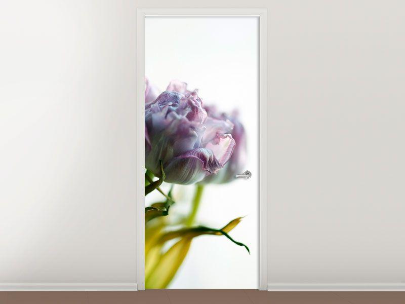 Tür #Tapete Der Tulpenstrauss