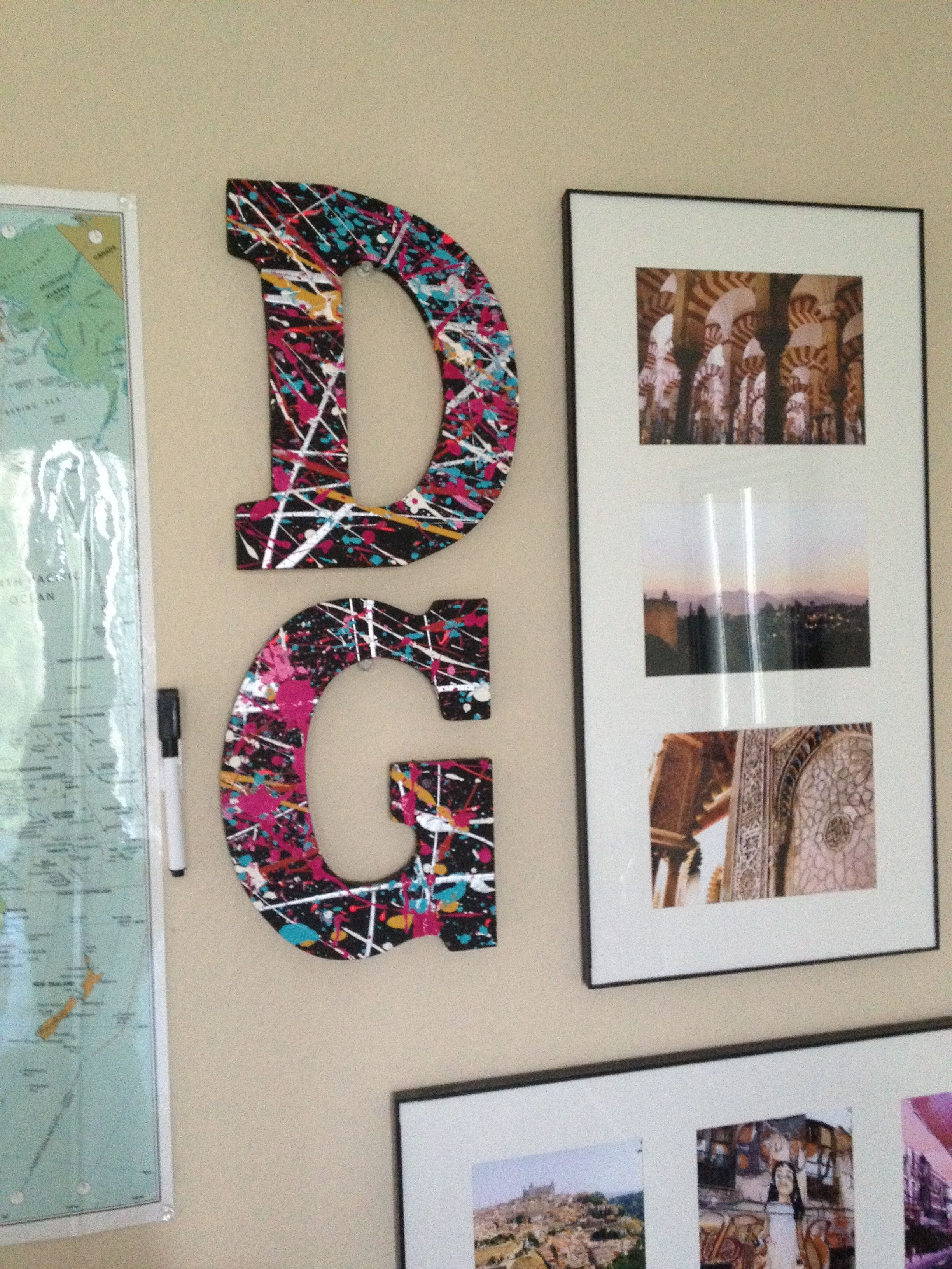 Buy Letters For Wall Entrancing This Would Be Fun Buy Those Wooden Letters At Joann's Then Paint Inspiration