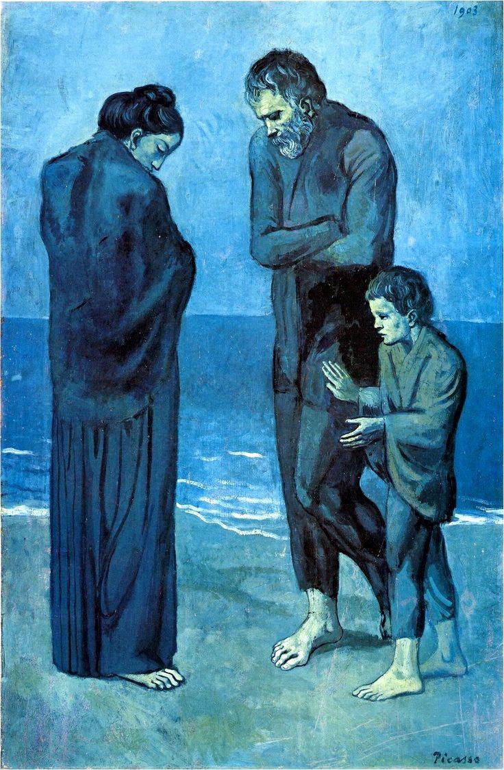 Poveri In Riva Al Mare Picasso Analisi Jpg 736 1124 Pablo Picasso Picasso Arte Blu