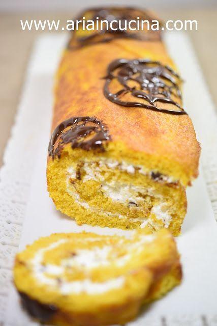 Blog di cucina di Aria: Rotolo alla zucca con mascarpone, miele e ...
