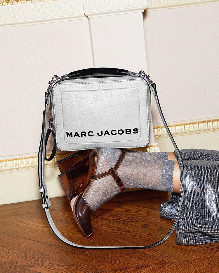 The Box Bag Marc Jacobs In Swedish Grey Tap To