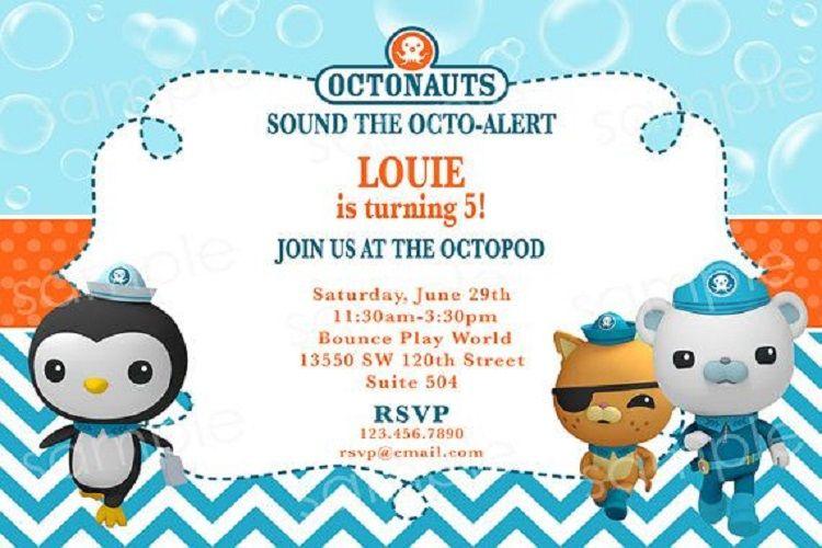 free octonauts birthday invitation
