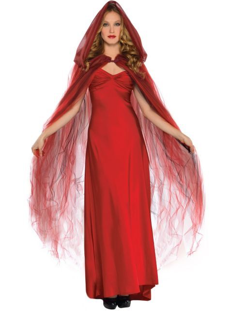 Scarlet Temptress Red Hooded Cape - Party City~$40 Halloween Ideas - party city store costumes