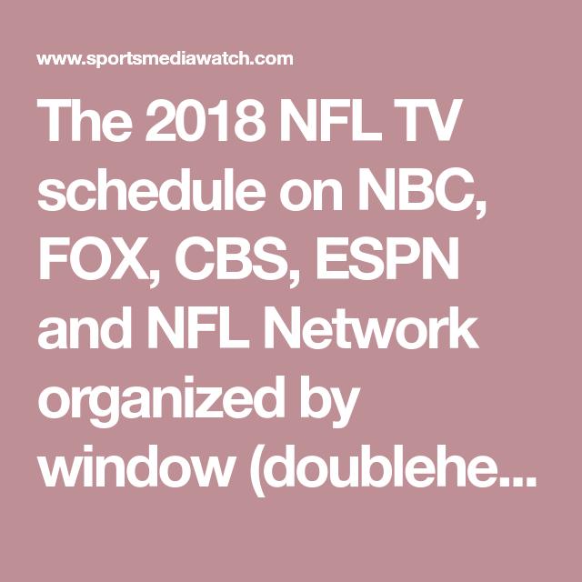 2019 Nfl Tv Schedule Tv Schedule Nfl Tv Nbc