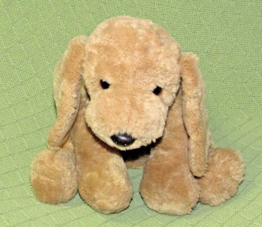 Gund Puddles Dog Golden Retriever Tan Plush Stuffed Puppy Red