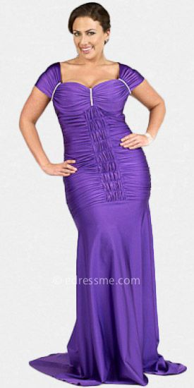Atria Plus Size Prom Gown | fashion | Pinterest | Plus size prom ...