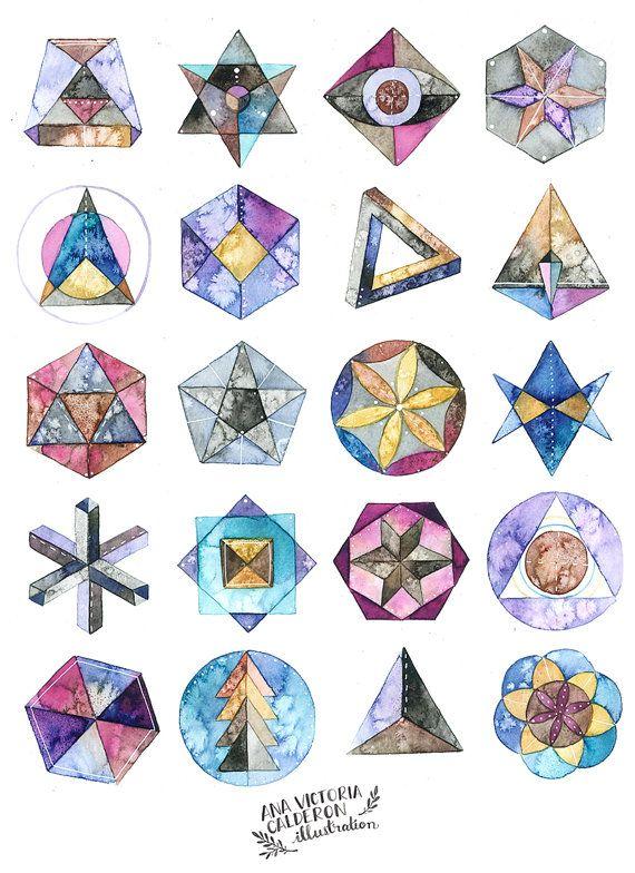 Sacred Geometry 8x10 Print   Pinterest   Geometría, Impresiones ...