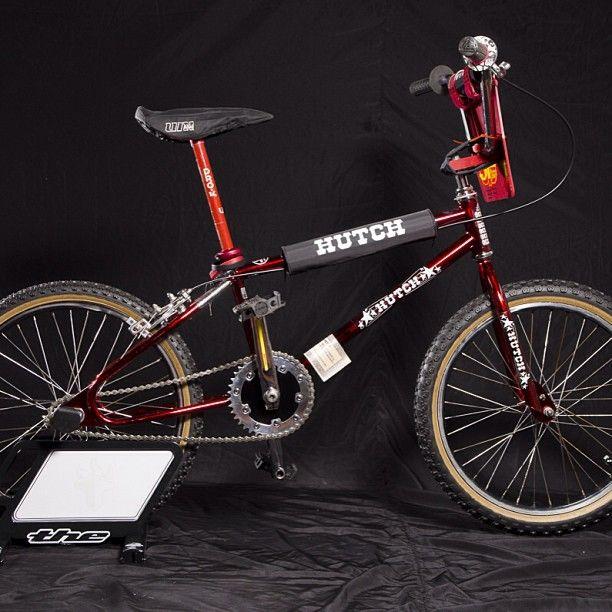 Old School BMX Bike RED  GRIPS Vintage Hutch Bicycle MTB Fixie Schwinn Cruiser
