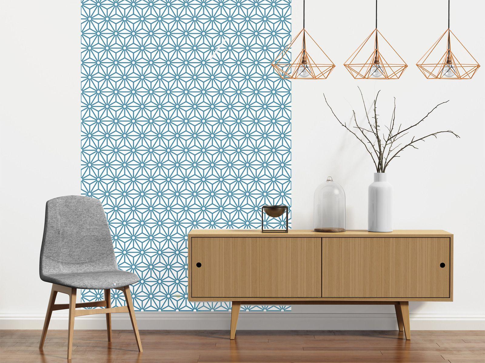 sterling bleu papier peint adh sif repositionnable papier peint adh sif papier peint et. Black Bedroom Furniture Sets. Home Design Ideas