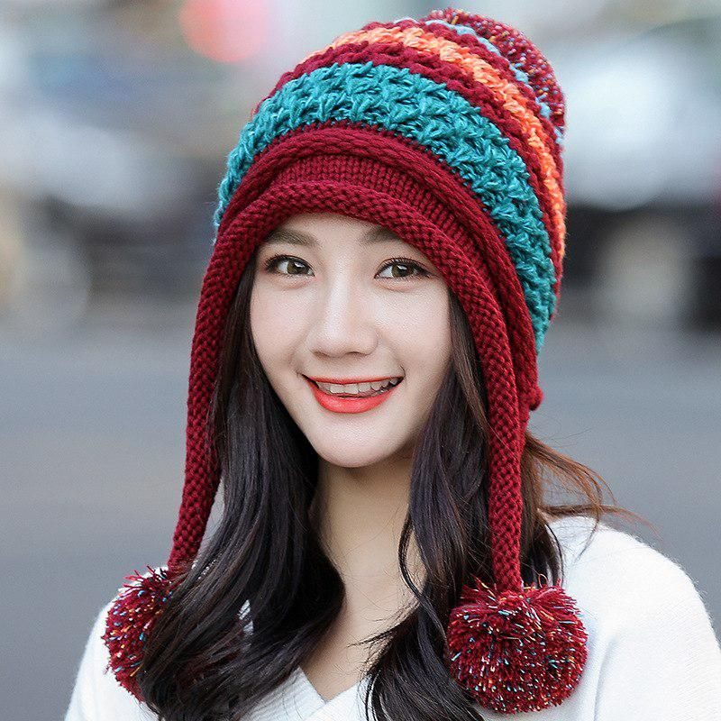 17d431a81aa Winter Hats For Woman 2018 Beanies cotton Knitted Hat Girls Autumn Female  Beanie Warmer Bonnet Ladies Casual Cap 7 Color. Yesterday s price  US   18.90 ...
