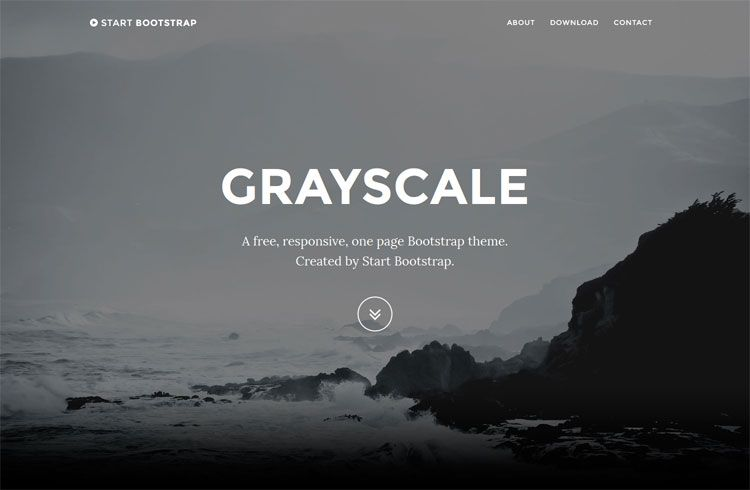 Grayscale Free One Page Bootstrap Theme One Page Website Bootstrap Template First Page