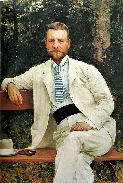 Portrait of Gustav Pongratz (1893) by Croatian painter Vlaho Bukovac