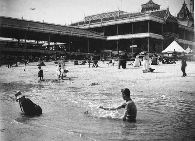 Serving Up Shenanigans In The Waters Of Brighton Beach 1886 The Bowery Boys New York City History The Bowery The Bowery Boys New York City Brighton Beach