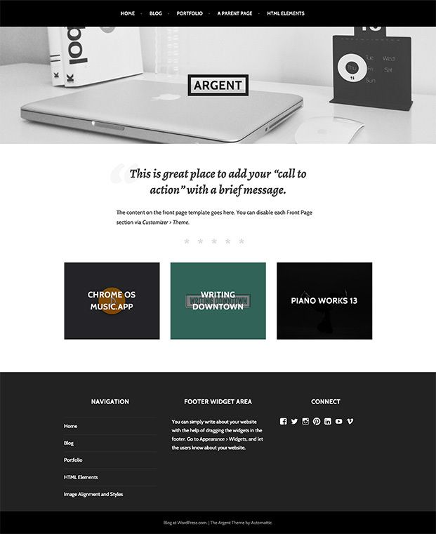 Argent Template, Wordpress and Late work - wordpress resume themes
