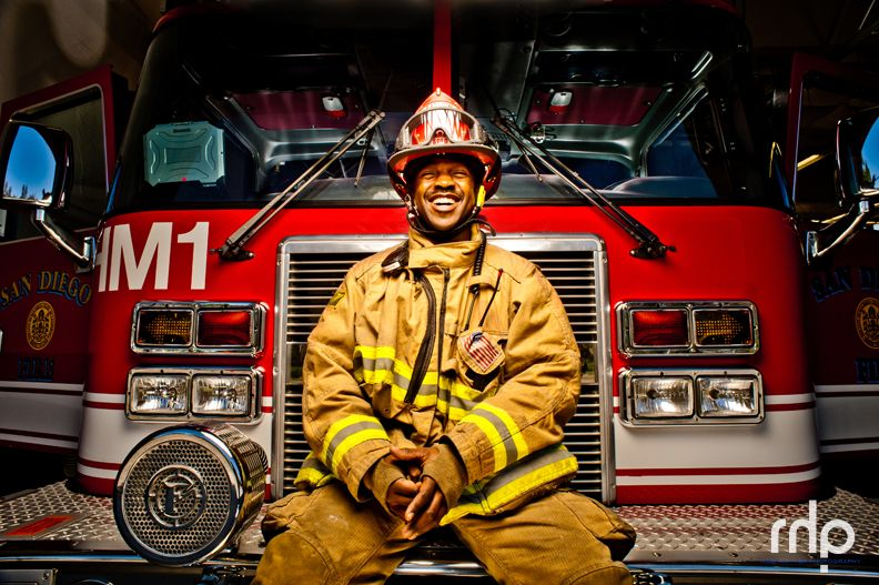 Robert Logan, San Diego Firefighter Shared by LION