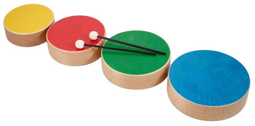 Thomann TKP Wooden Toms Color - Thomann www.thomann.de #gifts #gift #present #xmas #christmas #music #gear #accessories #gear #instrument #kids #starters #beginners #begin #start #drums #tom
