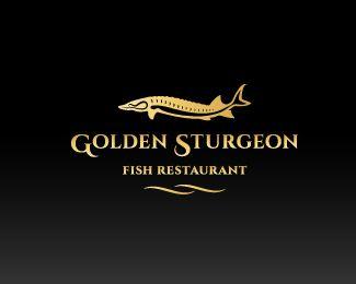 Golden Sturgeon Logo Design This Logo Design Is