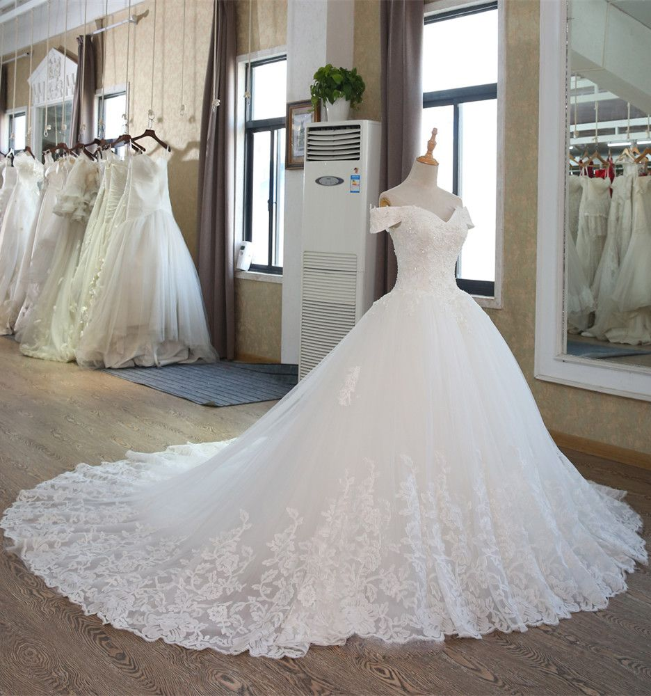 Wedding dresses with lace sleeves off the shoulder  Lxuxury Off The Shoulder ALine Wedding Dresses   Fashion