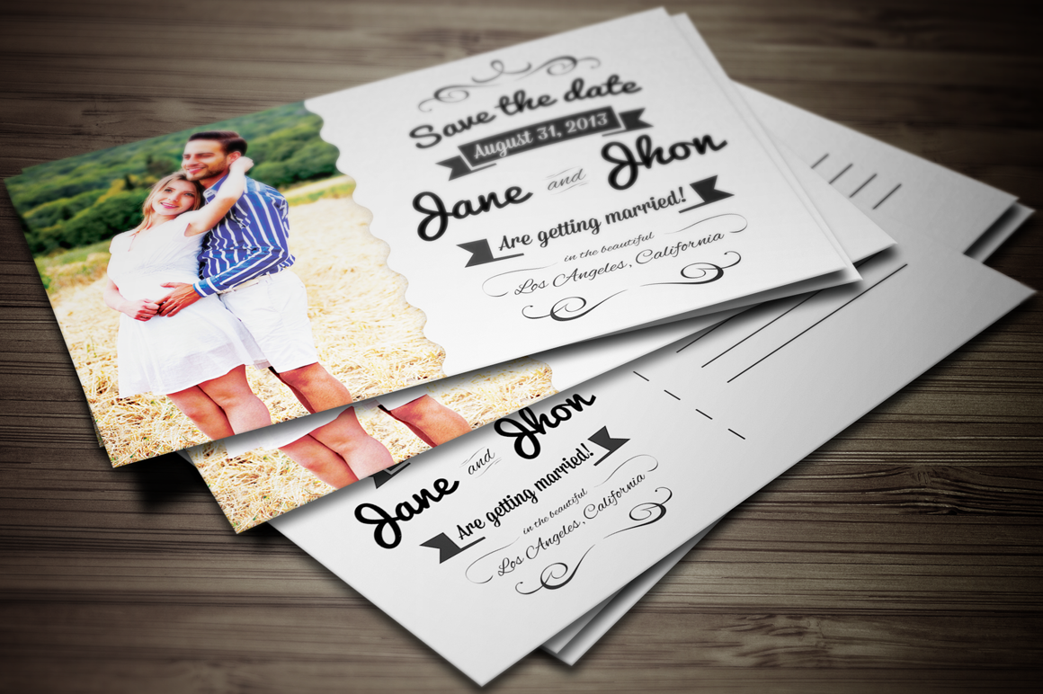 Elegant Wedding Invitation Postcard Elegant Wedding Invitations - Card template free: postcard wedding invitations template