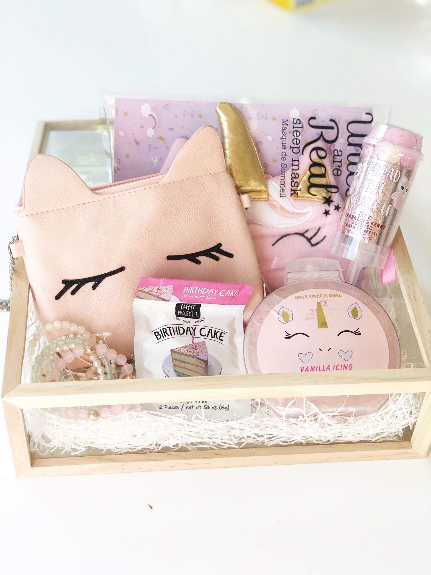 Unicorn Gift Box Girl Gift Baskets Unicorn Gifts Christmas