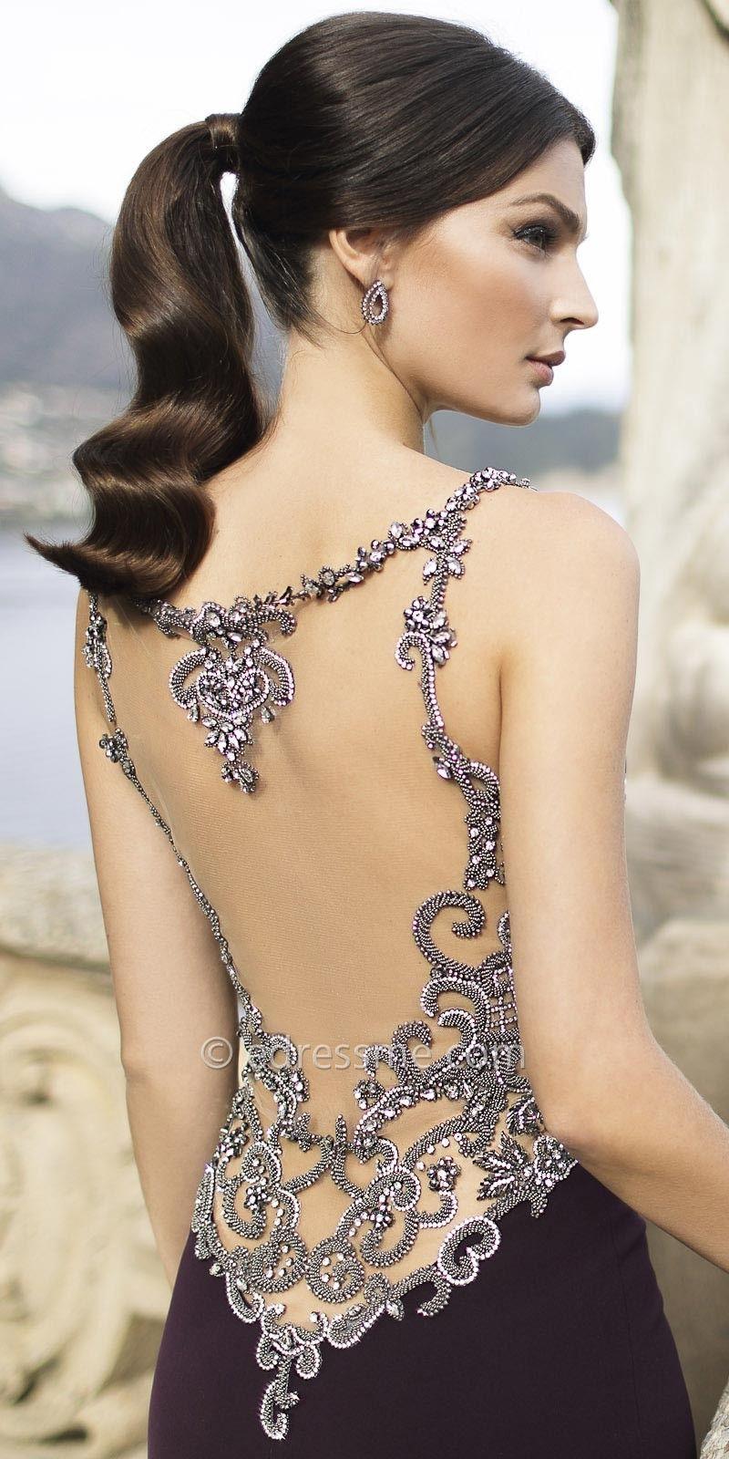 Comprar Vestido de malla transparente nude negro online