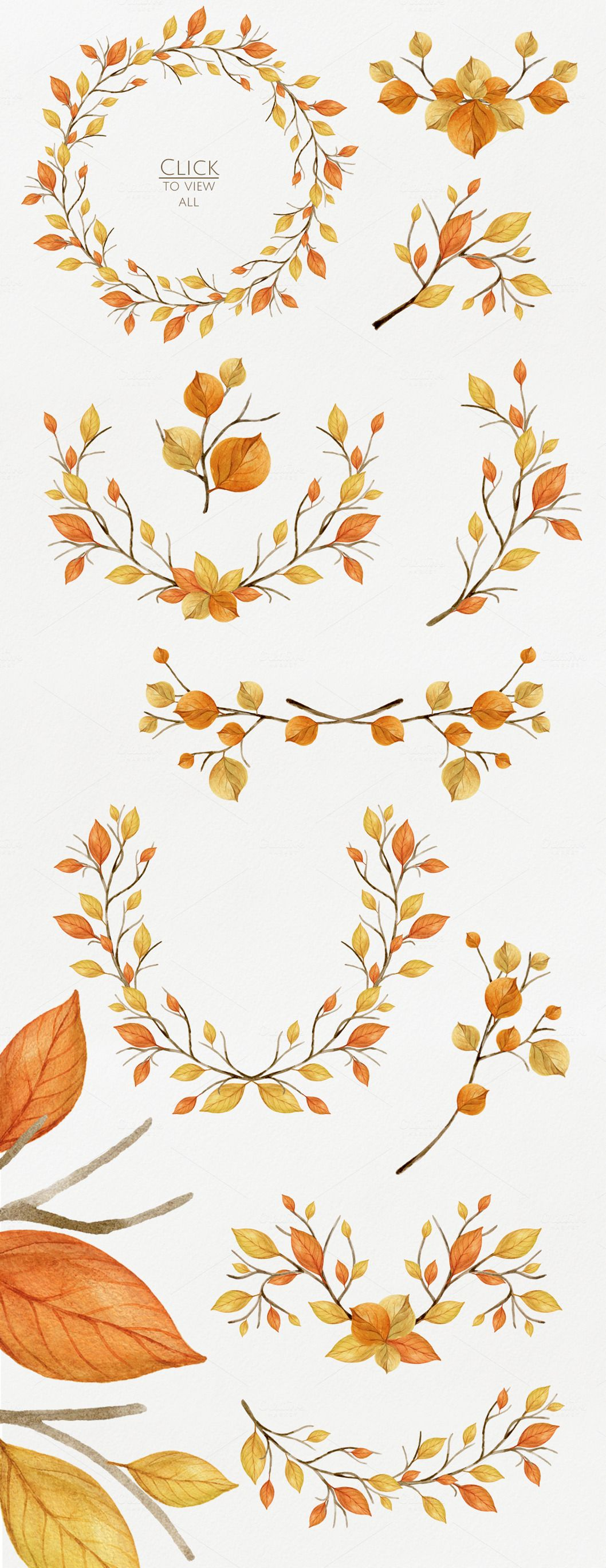 Warm Autumn. Watercolor DIY Pack | Aquarell, Natur illustration und ...