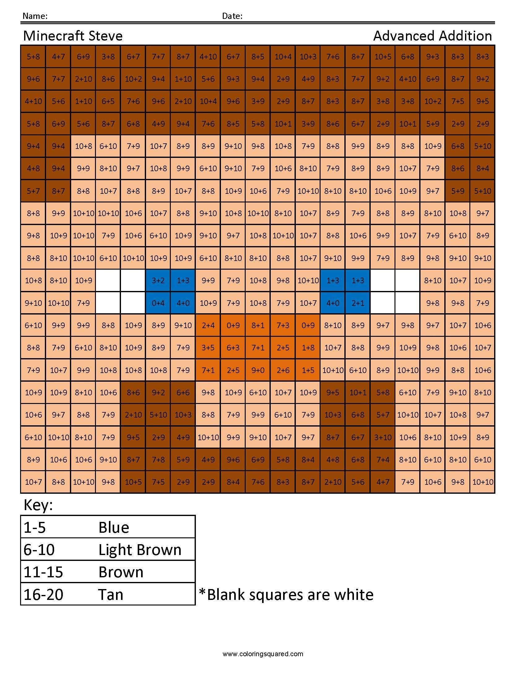 Minecraft Steve Advanced Addition