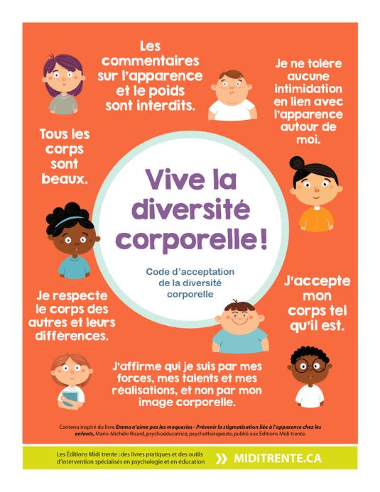 Affiche Gratuite Vive La Diversite Corporelle La Diversite Affiche Gratuite Justice Sociale