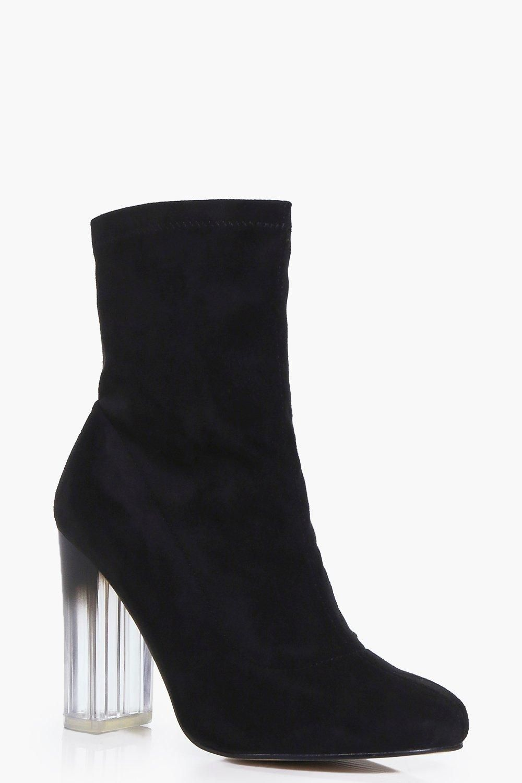 Clear Heel Sock Boots | boohoo