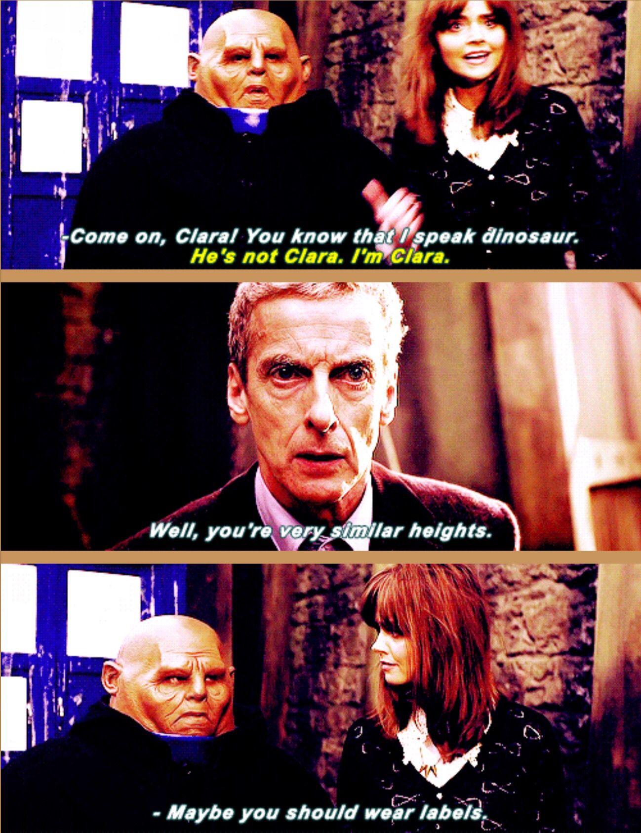 """He's not Clara. I'm Clara!"""