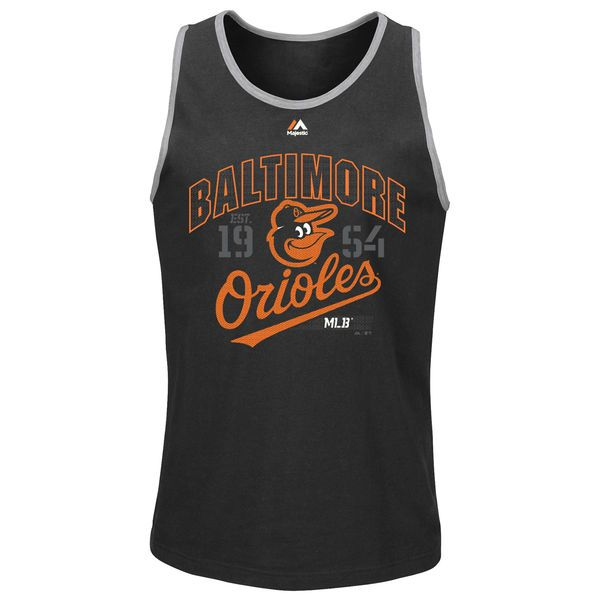 Baltimore Orioles Majestic Flawless Victory Tank Top - Black - $24.99