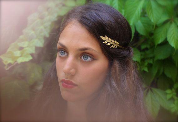 Olive Leaf Greek Goddess Headband Leaves Headband Bridal Hair Accessories Grecian Crown Gold Leaf Wreath Laurel Wreath Roman Headband  Nymph Greek Goddess Headband Olive...
