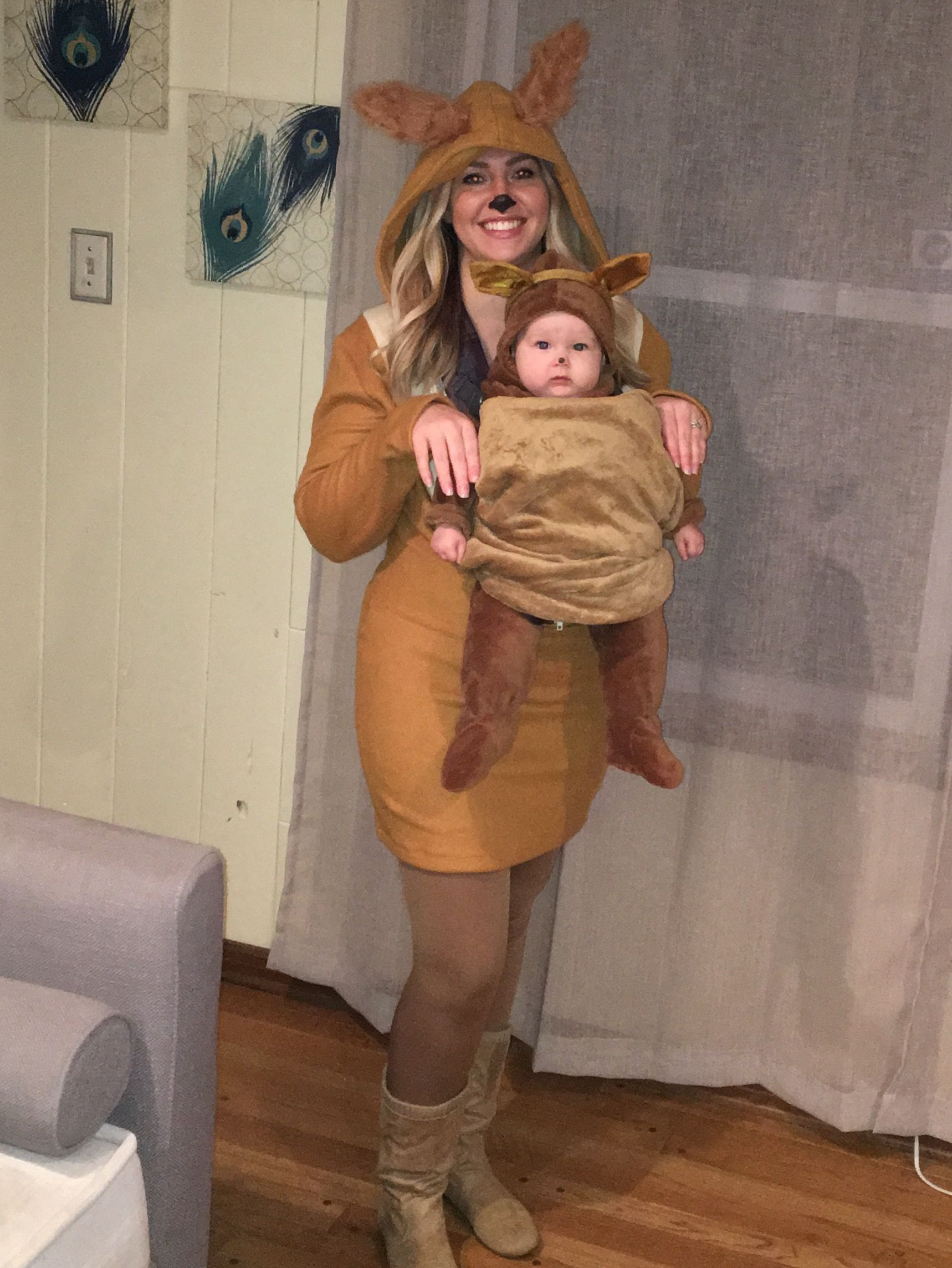a502cdee9adb Mom and baby kangaroo Halloween costume. Baby carrier costume. Baby wear  costume.