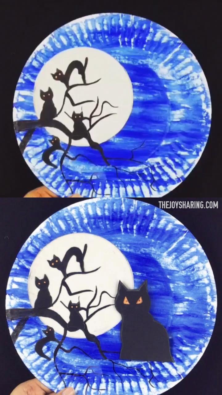 Halloween Black Cats Craft
