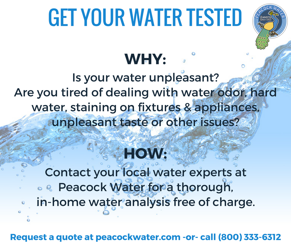 Request A Free Water Quality Or Service Quote Peacock Water Water Treatment System Water Quality Water Treatment