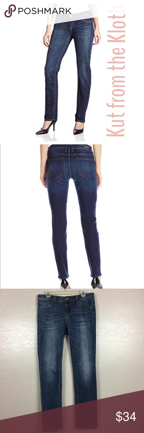 Kut From The Kloth Straight Leg Starburst Jeans 8 Jeans Factory Kut From The Kloth Clothes Design