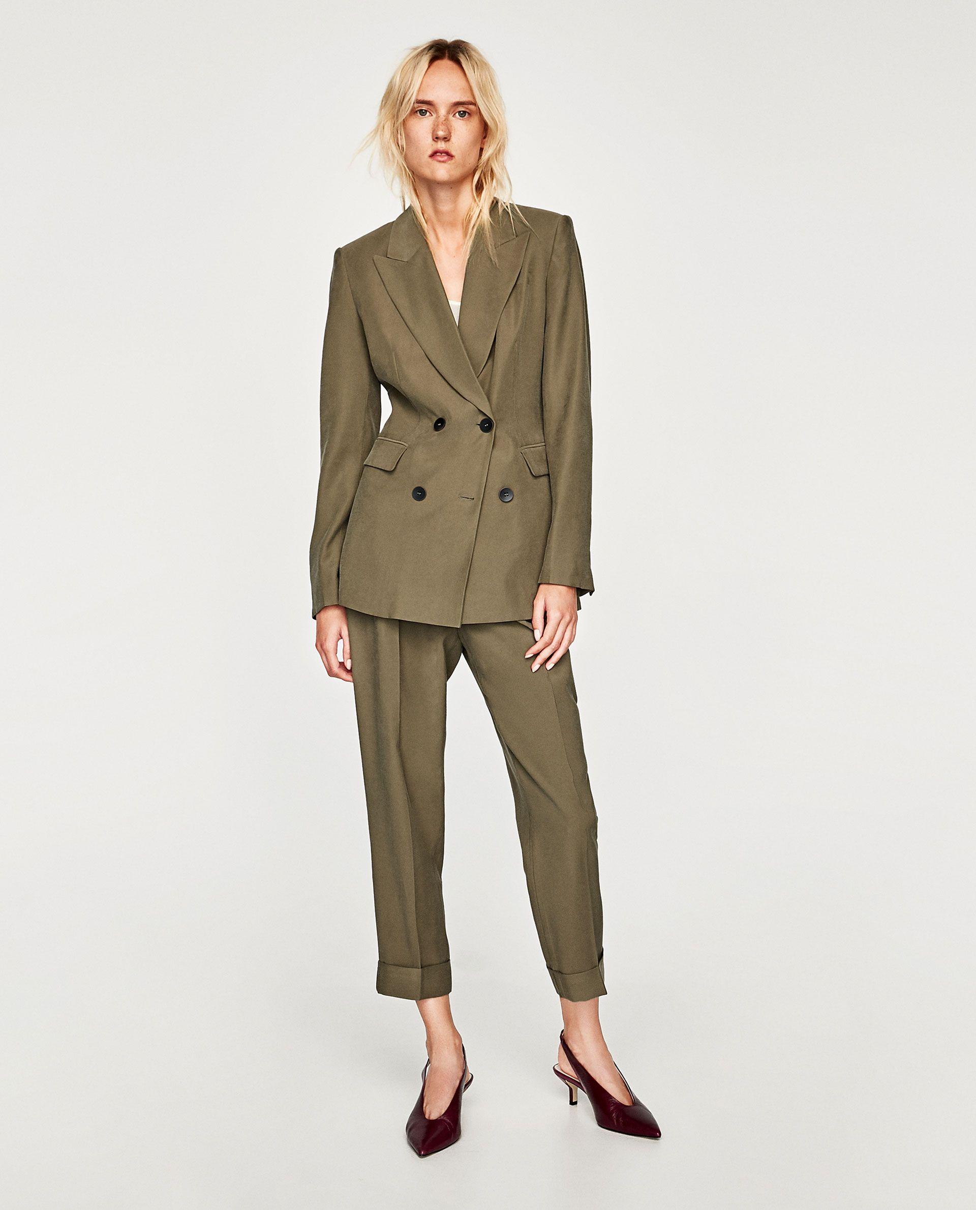 cb389a721dc0 Casual Suit Jacket, Tailored Jacket, Corduroy Jacket, Blazer Fashion,  Blazers, Zara