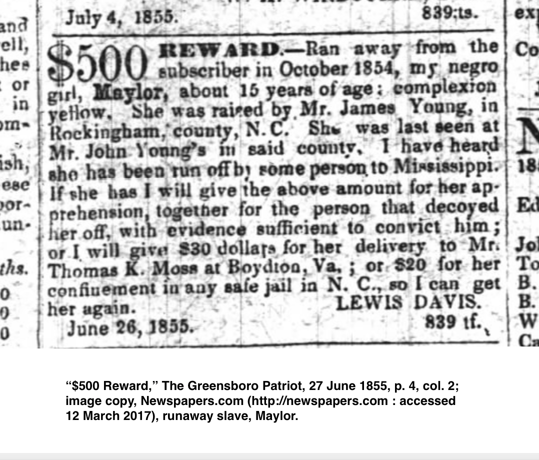 Pin On Runaway Slave Advertisements