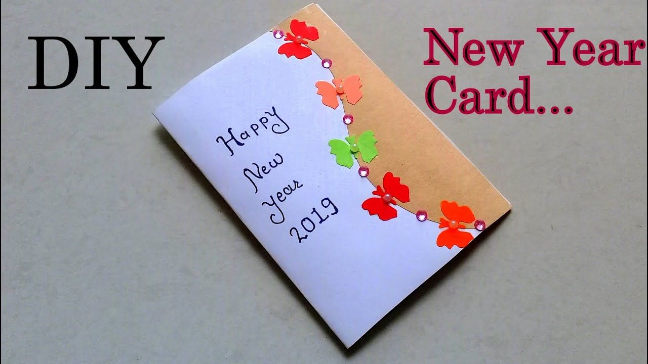Simple Beautiful New Year Card Making Happy New Year Greeting